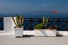 balkonowy santorini fira zdjęcia stock