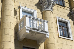 Balkonowy stary budynek Obraz Royalty Free