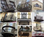 Balkonowy stary skucie Obrazy Stock