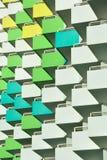 Balkons aan de linkerzijde Stock Afbeelding