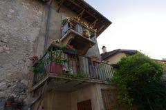 Balkons in Chanaz Royalty-vrije Stock Fotografie