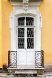 Balkons en ingangen aan de Barokke stijl van het huis in Huisdier Royalty-vrije Stock Foto's