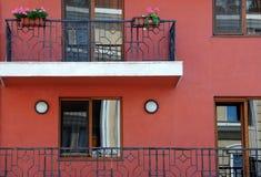 Balkons en Vensters Stock Foto
