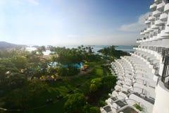Balkons, tropische toevlucht Stock Afbeelding