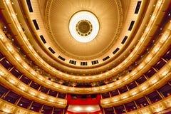 Balkons van het Huis van de Opera van Wenen Royalty-vrije Stock Afbeeldingen