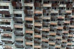 Balkons van onvolledig hotel stock afbeeldingen