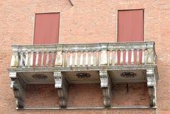 Balkontüren geschlossen Lizenzfreies Stockfoto