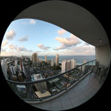 balkony我的意图 免版税库存照片
