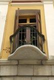 Balkony in het oude huis Stock Afbeelding