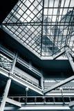Balkony i sufit wśrodku galerii w Wewnętrznym schronieniu obraz royalty free