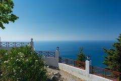 Balkony Meerblick Griechenlands Lizenzfreie Stockfotografie