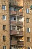 balkony mieścą wiele storeyed ranek starzy zdjęcie stock