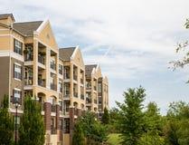 Balkony na Ładnych Sztukateryjnych mieszkaniach własnościowych Obraz Royalty Free