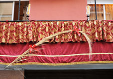 Balkony podczas Świętego tygodnia, Sevilla, Andalusia, Hiszpania Obraz Royalty Free