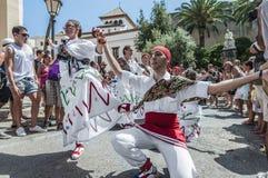 ball在Festa少校的de Pastorets在Sitges,西班牙 免版税库存图片