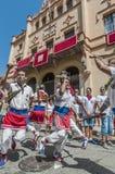 ball在Festa西班牙少校的Sitges的, de Bastons 免版税库存图片