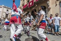 ball在Festa西班牙少校的Sitges的, de Bastons 免版税图库摄影