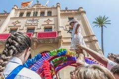 ball在Festa西班牙少校的Sitges的, de Cercolets 免版税图库摄影