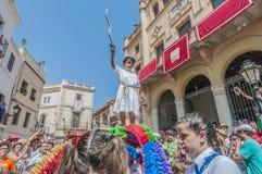 ball在Festa西班牙少校的Sitges的, de Cercolets 库存照片