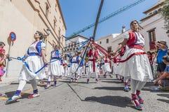 ball在Festa西班牙少校的Sitges的, de Cintes 免版税库存照片