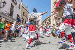 ball在Festa西班牙少校的Sitges的, de Gitanes 免版税库存照片
