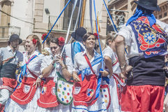 ball在Festa西班牙少校的Sitges的, de Gitanes 免版税库存图片