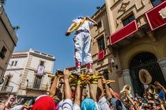 ball在Festa西班牙少校的Sitges的, de Pastorets 库存图片