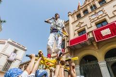 ball在Festa西班牙少校的Sitges的, de Pastorets 库存照片