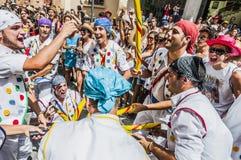 ball在Festa西班牙少校的Sitges的, de Pastorets 免版税库存照片