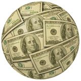 Ball of $100 bills Royalty Free Stock Photography