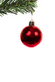 Ball. Red christmas ball  isolated on white background Stock Photo