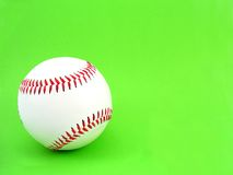 Ball. Baseball isolated on green background Stock Images