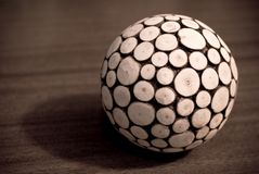 The ball. The wooden ball, interior detail or the toy Royalty Free Stock Photos