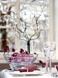 Ball. Christmas table decoration. Ball in the glass bowl Royalty Free Stock Image