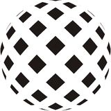 Ball. Abstract  vector illustration in the style op-art Stock Photo