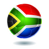 Ball. Soccer ball with the flag of South Africa Royalty Free Stock Images