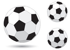 Ball. Soccer ball isolated on the white background Stock Photography
