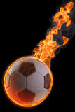 Ball. Flaming soccer ball. isolated on black Stock Photography