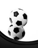 Ball. On the mirror (black and white Stock Photo