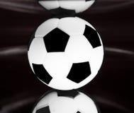 Ball. On the mirror (black and white Stock Photos