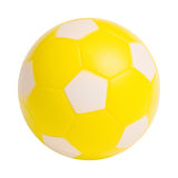 Ball. Yellow ball on a white background stock images
