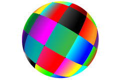 Ball. Abstract ball consisting of a set of colored squares for designers for various necessities Stock Image
