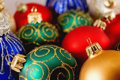 Ball. Beautiful сhristmas color ball isolated stock photography