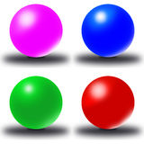 Ball, 3D. Abstract 3D ball. The Balls stock illustration