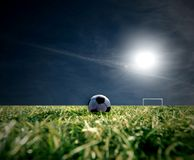 Ball. A soccer ball in stadium Stock Image