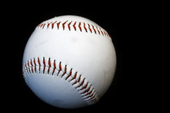 Ball. Baseball ball on black background Royalty Free Stock Images