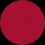 Ball. Red tiled ball shape royalty free illustration