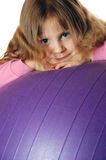 On a ball Stock Image