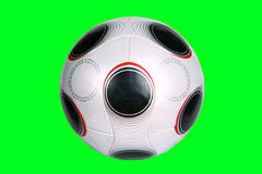 Ball. For Foot on green background Royalty Free Stock Images