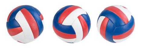 Ball. Three volleyball ball isolated. Clipping paths Stock Images